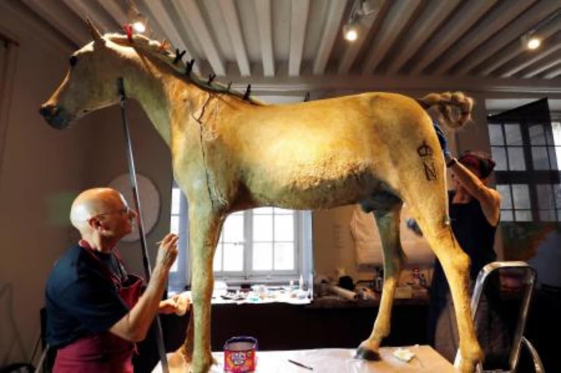 Women of Age Riding Horses Le Virzi Restoration