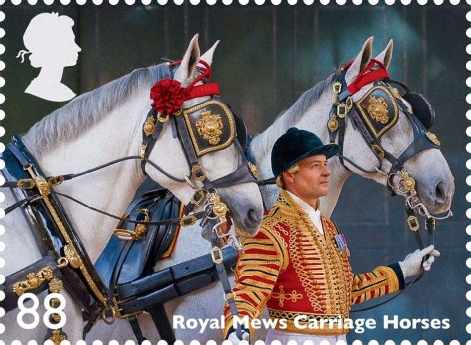 WARHorses horses featured on stamps