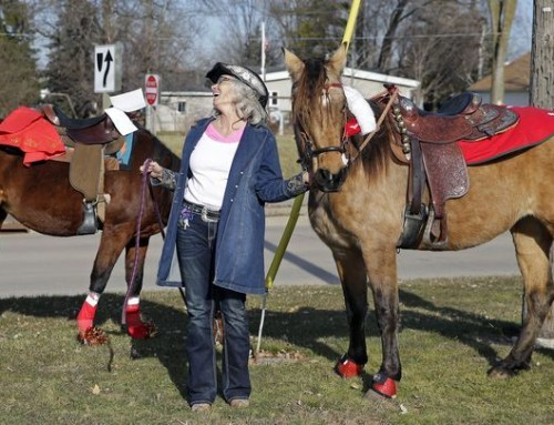 Horseback Carolers Herald the Holiday
