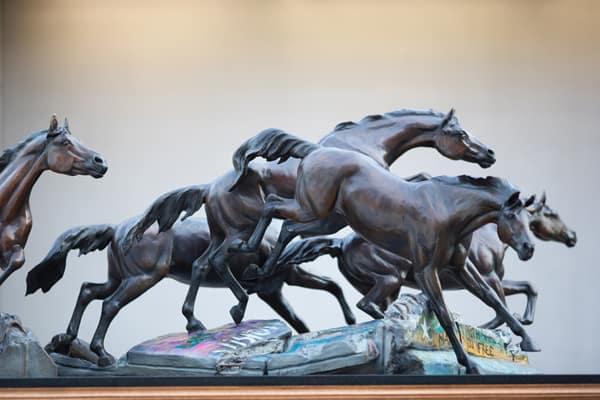 Bronze Horses Befit Bush's Presidential Library
