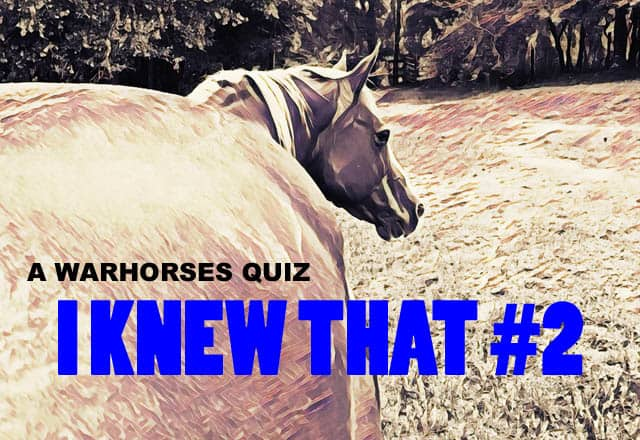 WARHorses Quiz I Knew That #2