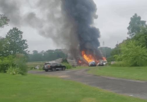 Frightened Horse Refuses to Leave Burning Barn